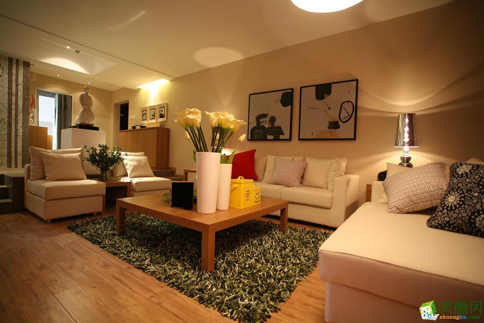 现代简约风格80平米三室一厅装修案例图|众信装饰