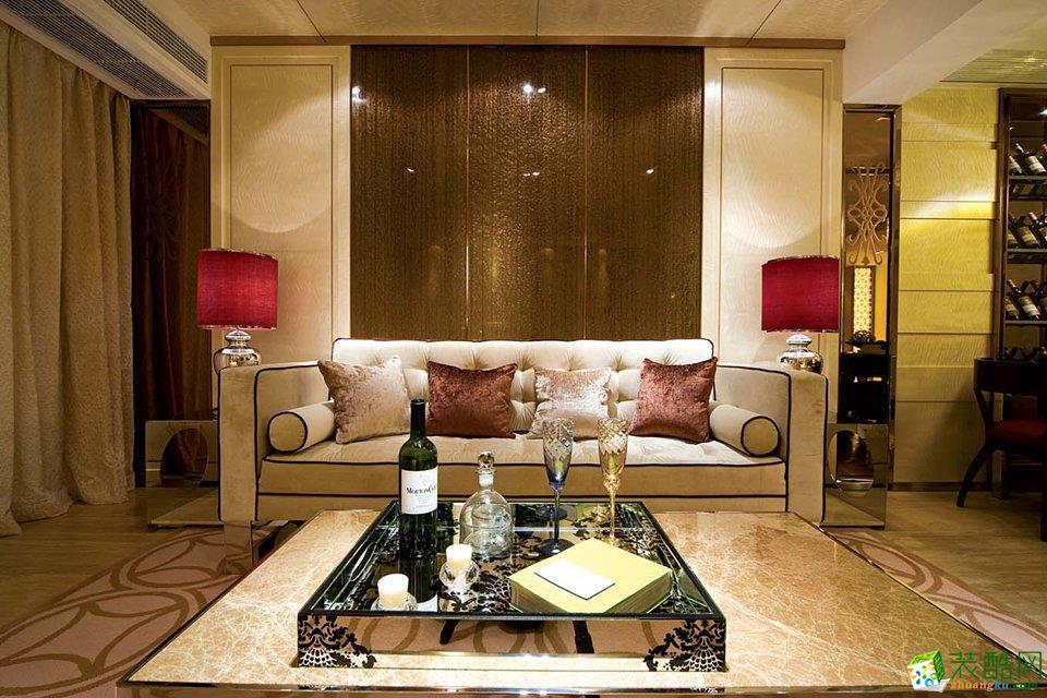 后现代奢华风格133平米四居室装修案例图|众信装饰