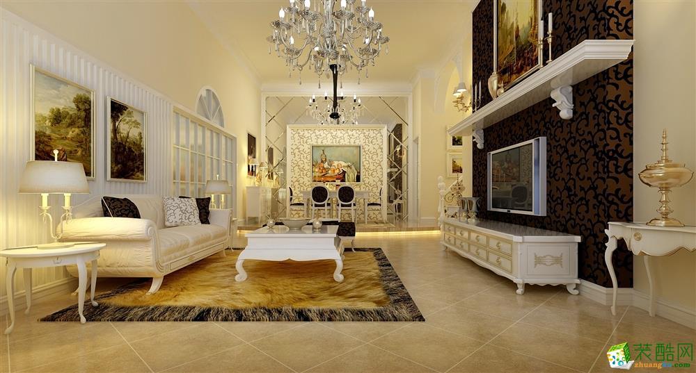 简欧风格160平米四室两厅装修案例图|鼎豪装饰