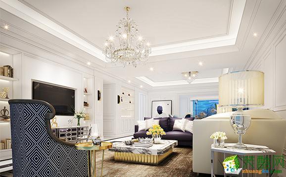 【华荣装饰】东海国际公寓220�O现代法式公寓装修效果图