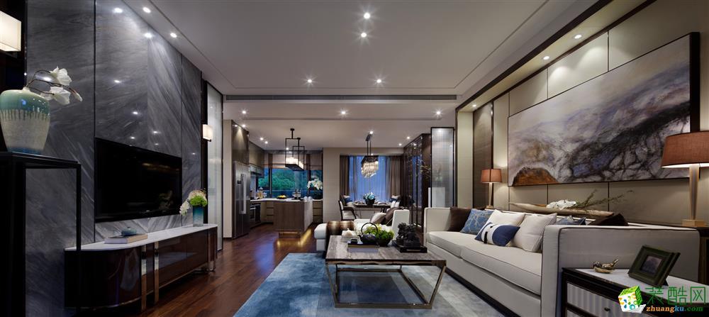 峰光无限装饰公司 丨万科・城市之光三室131平现代风格