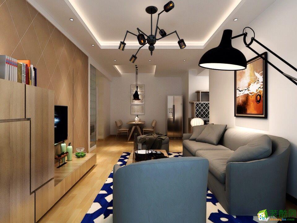 君临天下103平米现代简约三室两厅装修案例图|品匠装饰