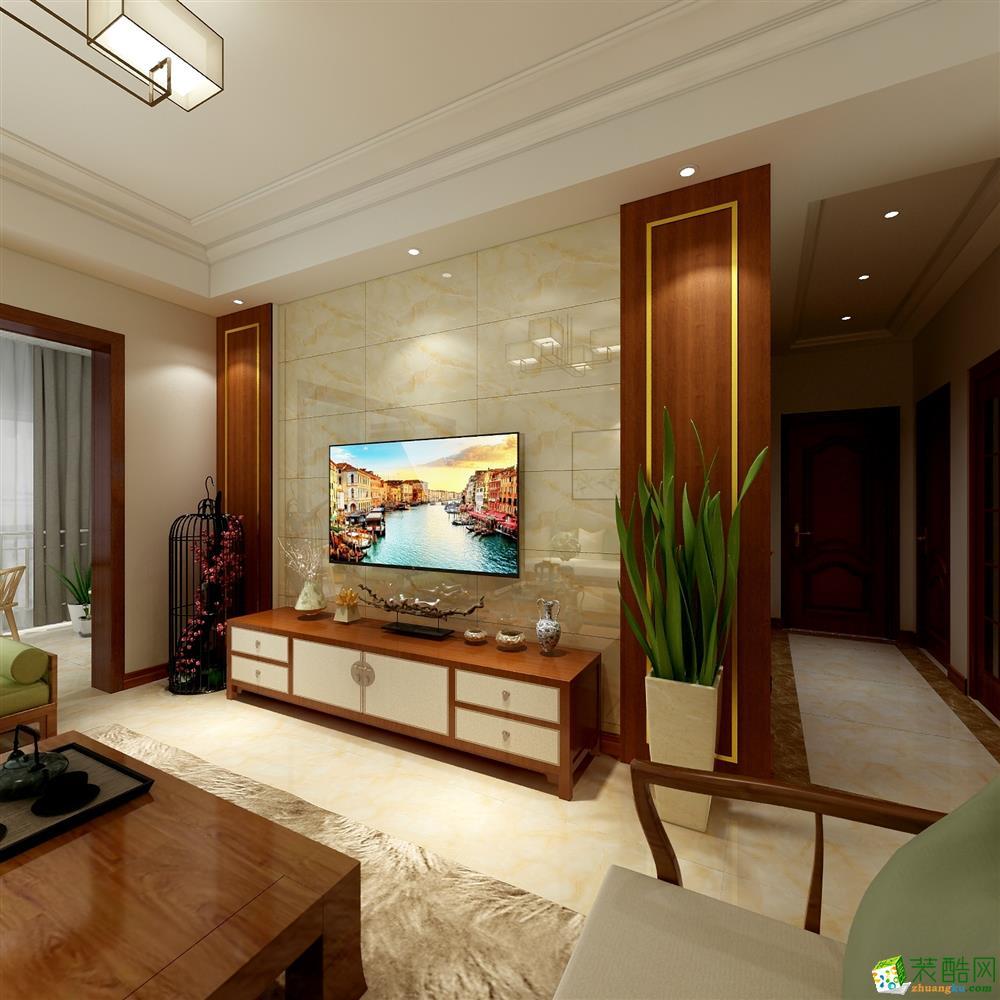 天誉城130方三室两厅现代风格装修效果图