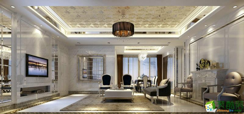 140平米现代欧式风格四室两厅装修实景案例图|业之峰装饰