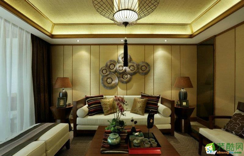 168平米现代中式风格四室两厅装修案例图|业之峰装饰