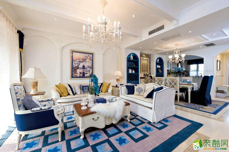 180平米地中海风格别墅住宅装修实景案例图|业之峰装饰