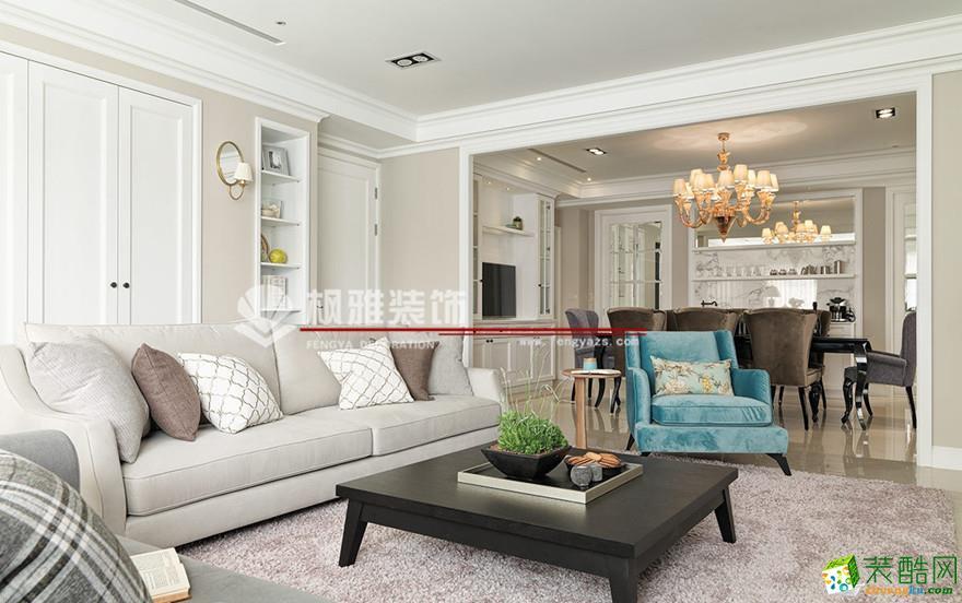 【枫雅装饰】相城区136方美式风格三居室装修设计效果图