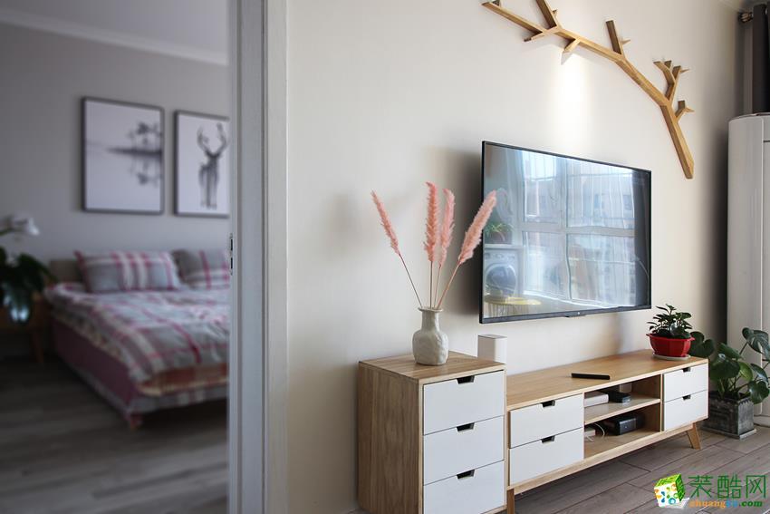 鼎盛装饰―110方现代简约三居室装修设计效果图