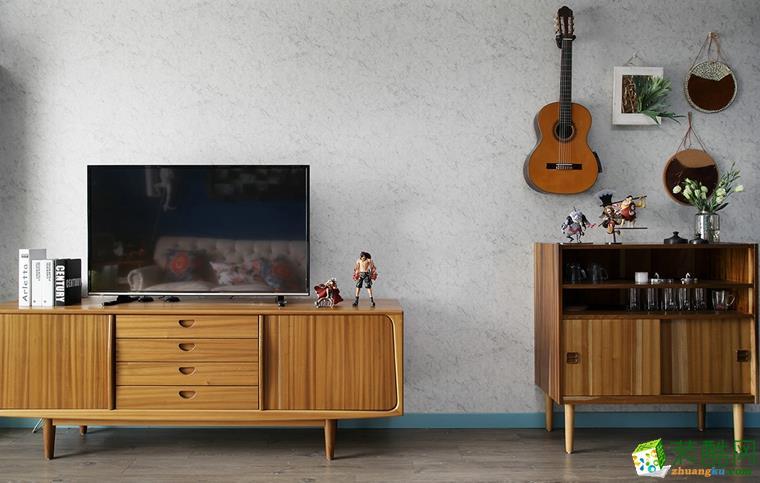 鼎盛装饰―100�O美式风格两居室装修设计效果图