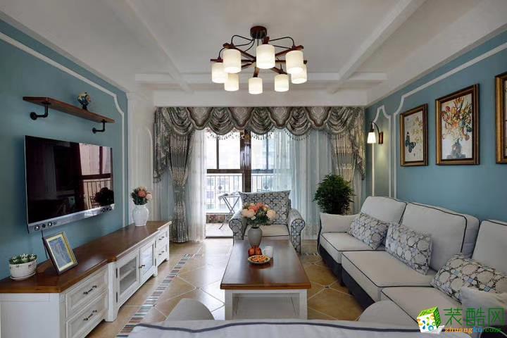 客厅  豪迪装饰―江宏花园120平美式风格