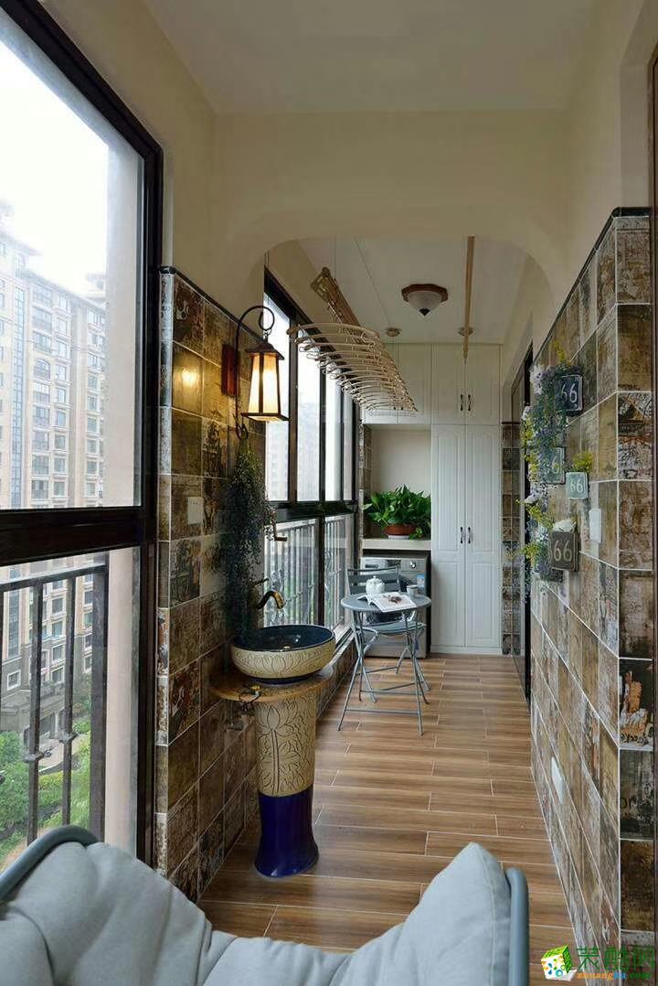 阳台  豪迪装饰―江宏花园120平美式风格