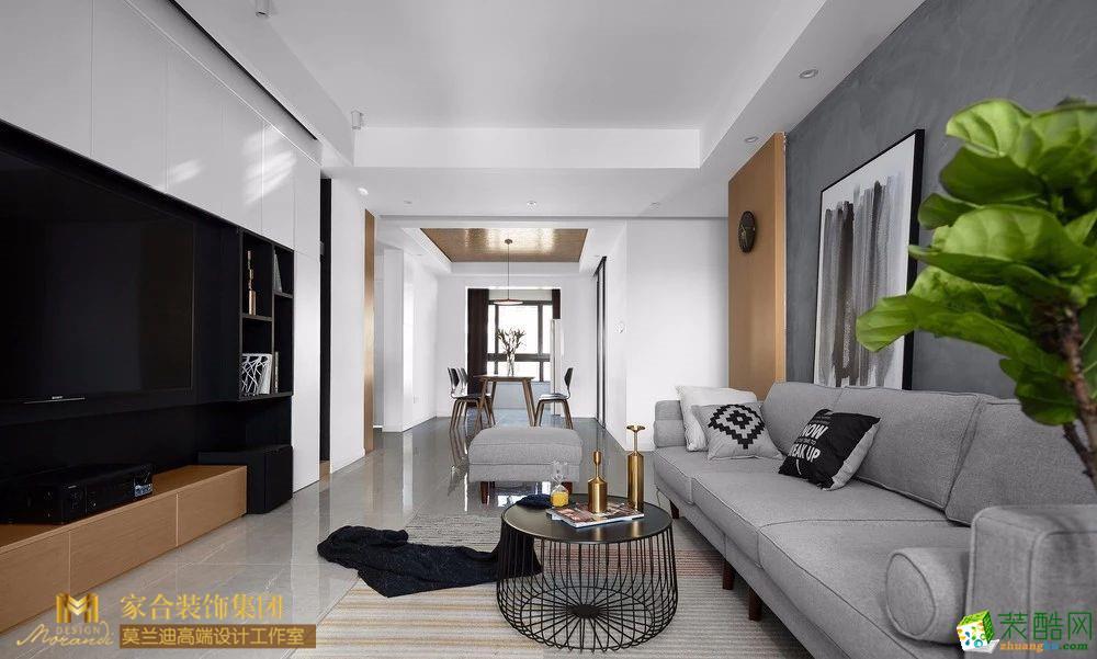 客厅  118�O现代风三居 打造独一无二的阳光房