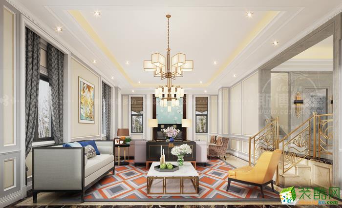 混搭风格350平米独栋别墅装修实景案例图|乾维装饰