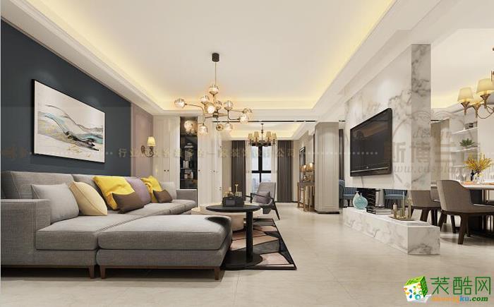 现代风格180平米四室两厅装修案例图|乾维装饰