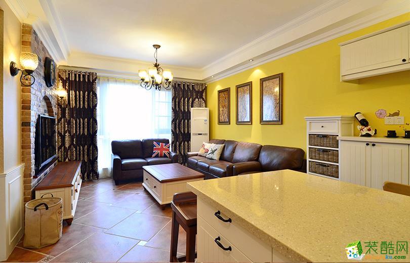 美式風格136平米四室兩廳裝修實景案例圖 瑞鉑裝飾