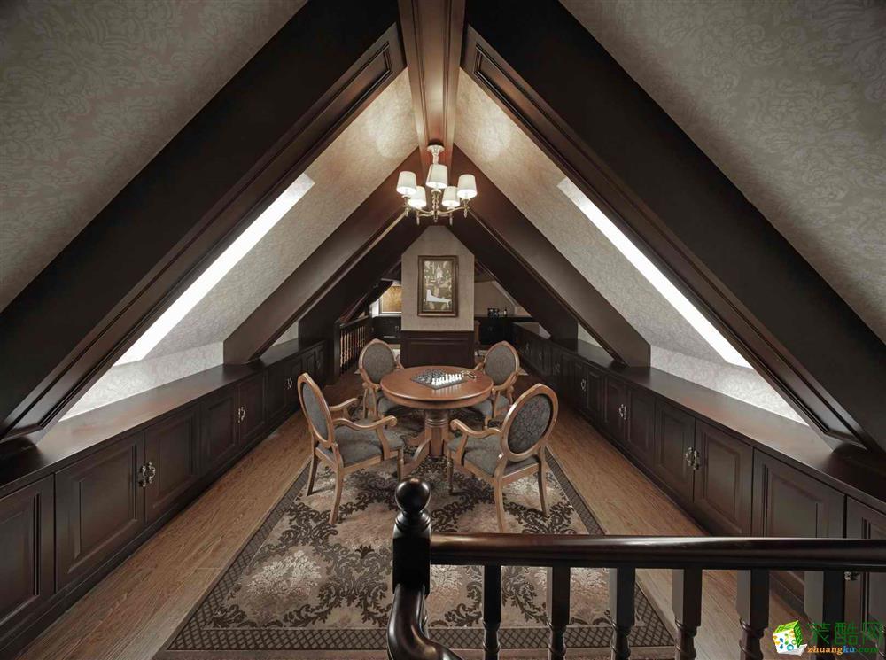 168平米欧式风格别墅住宅装修实景案例图|幸福家装饰