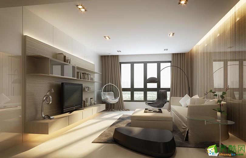 简约风格92平米三室两厅装修实景案例图|龙头装饰