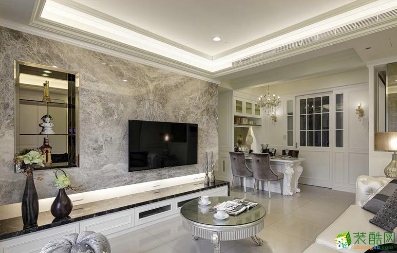 116平米欧式风格四室两厅装修实景案例图|德雕装饰