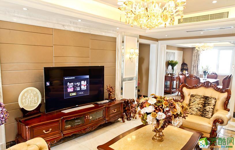 欧式风格106平米三室两厅装修实景案例图|红蚂蚁装饰