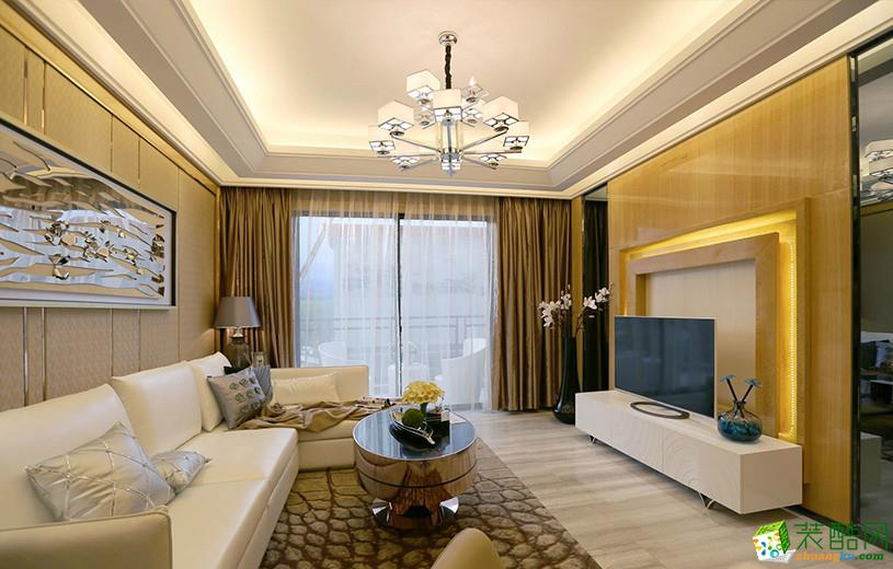 现代简约风格123平米四室两厅装修实景案例图|华馨装饰