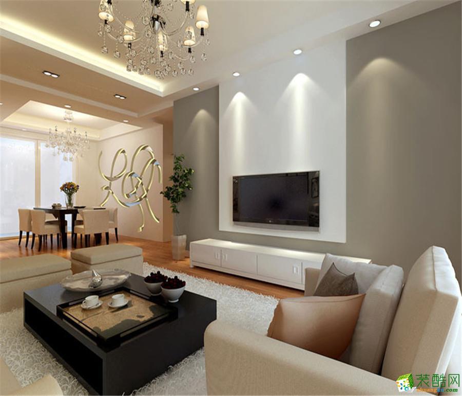 现代简约风格126平米四室两厅装修实景案例图|喜匠装饰
