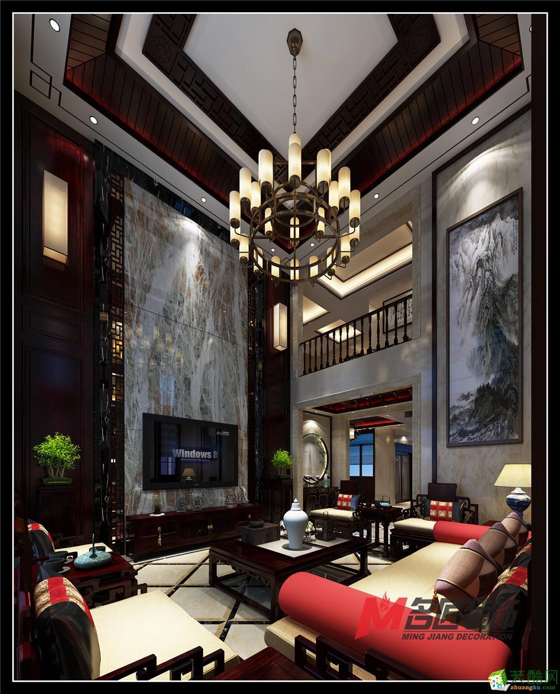 【名匠装饰】香语郡300�O中式风格别墅设计效果图