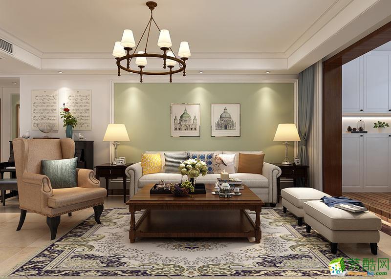 长沙居联峰尚装饰-美式三居室装修效果图