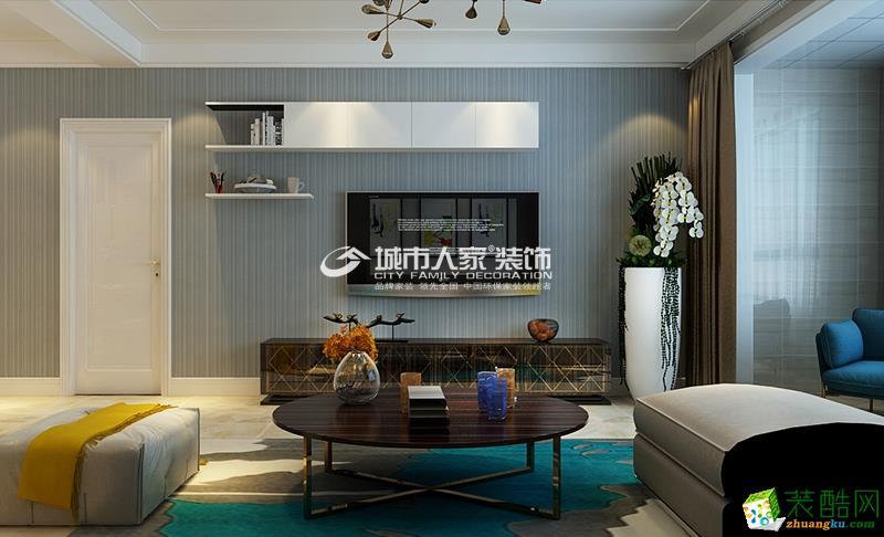 【保利百合】120平米样板间现代简约风格装修设计
