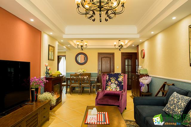美式风格116平米四居室装修实景案例图 金煌装饰