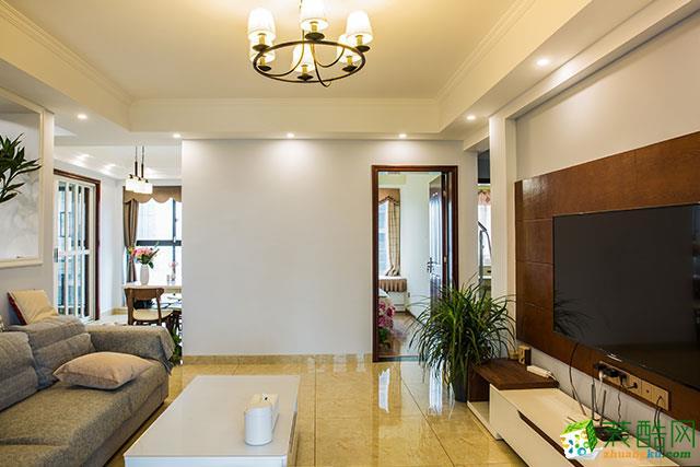 现代简约风风格120平米四室两厅装修实景案例图|点石装饰