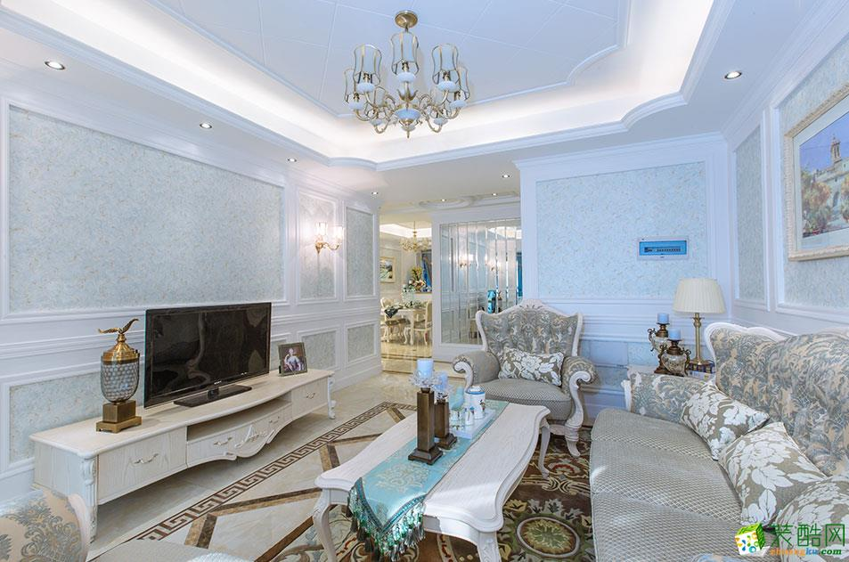 欧式风格130平米三室两厅装修实景案例图|名匠装饰