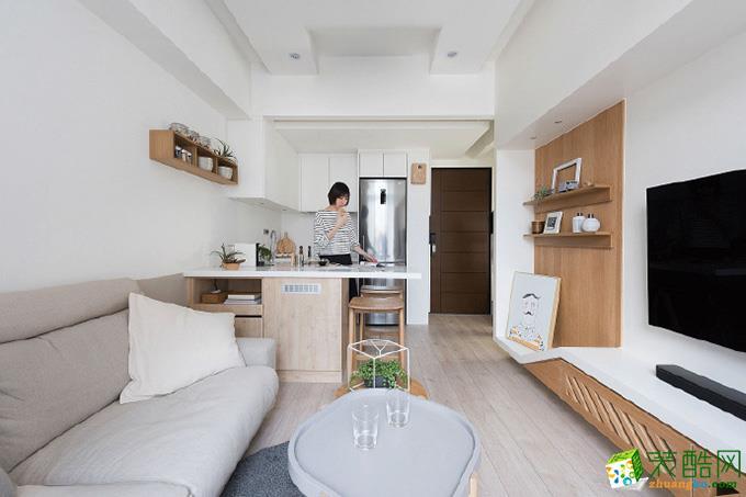 原木风格62平米两居室装修实景案例图|隆庭装饰