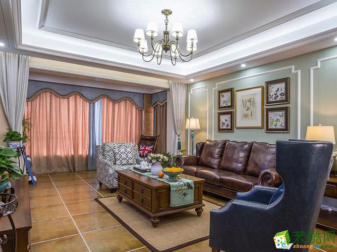美式风格142平米四室两厅装修实景案例图|上舍居装饰