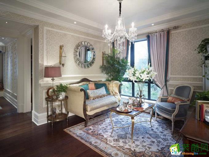 183平米法式风格四室两厅装修实景案例图|大筑装饰