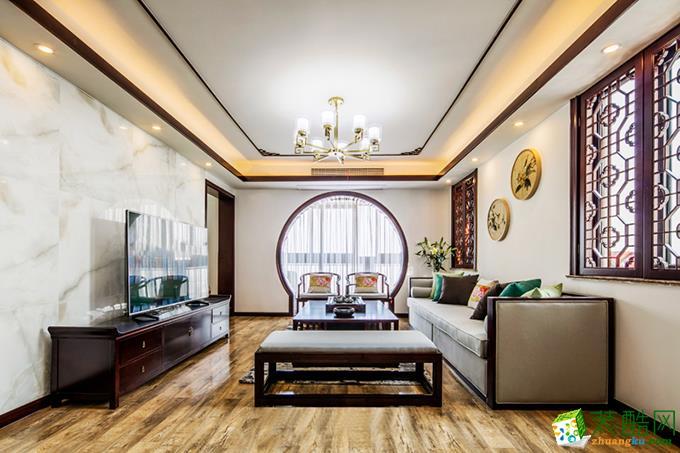 133平米中式风格三室两厅装修实景案例图 琅蜂装饰