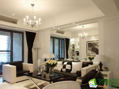 桂林帝豪装饰―65方小两室现代风格装修设计效果图