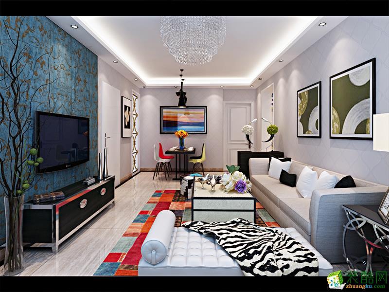 怀化随意居装饰-现代简约三居室装修效果图