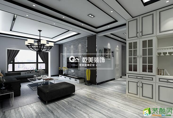 【乾美装饰】143�O海伦国际现代简约灰色调装修
