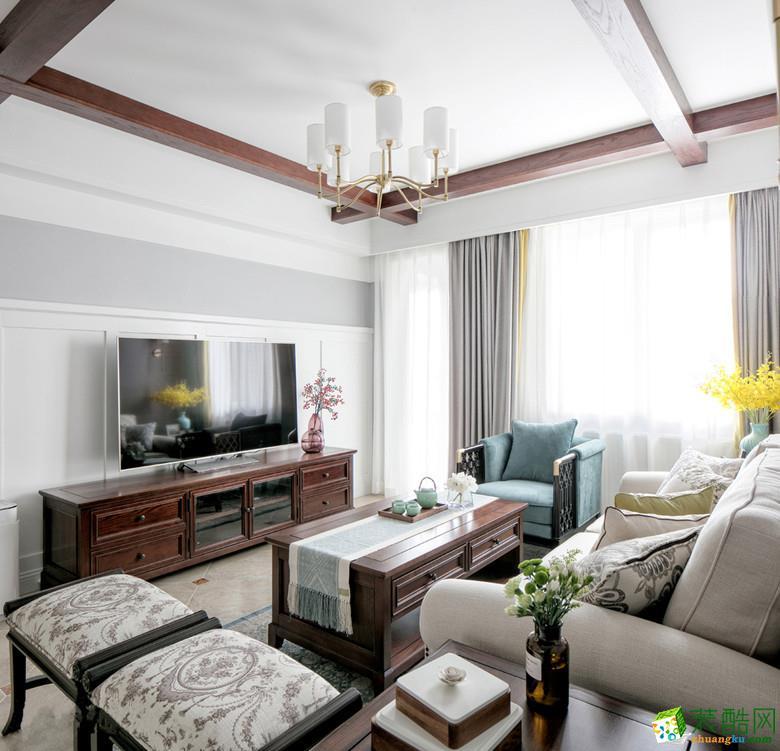 众意装饰―【现代轻美式】保利时代90�O三居室装修效果图