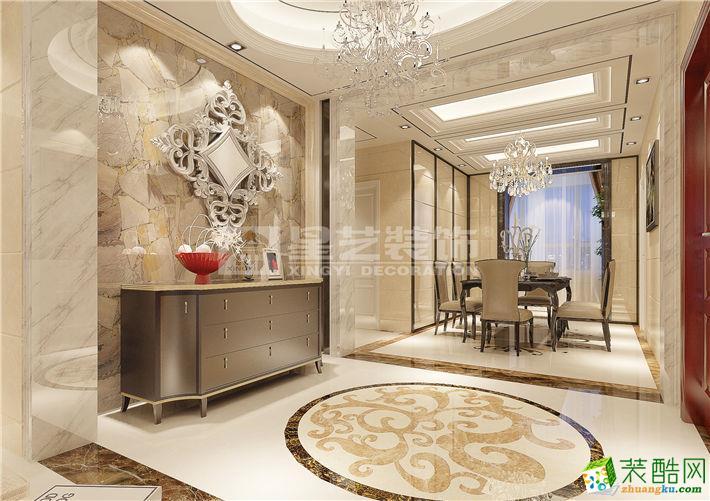 星艺装饰―果岭里128�O简欧风格三居室装修效果图