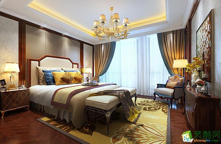 鲁班装饰―180�O欧式风格四居室装修设计效果图