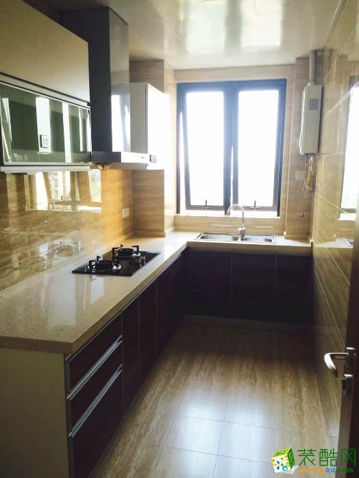 金盛装饰―126�O原木简约三居室装修设计效果图
