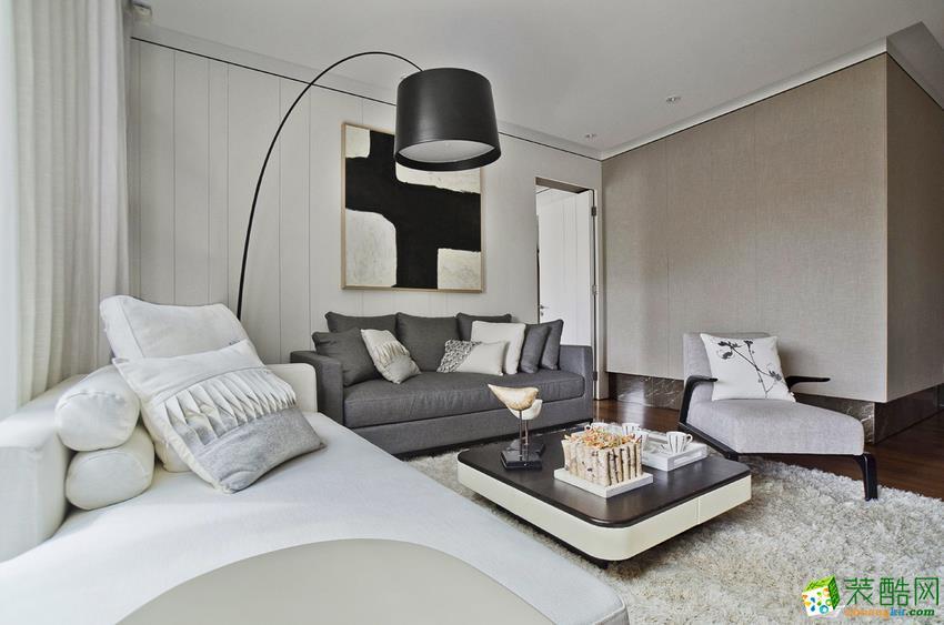 宿迁城市人家装饰―100�O简约风格三居室装修设计效果图