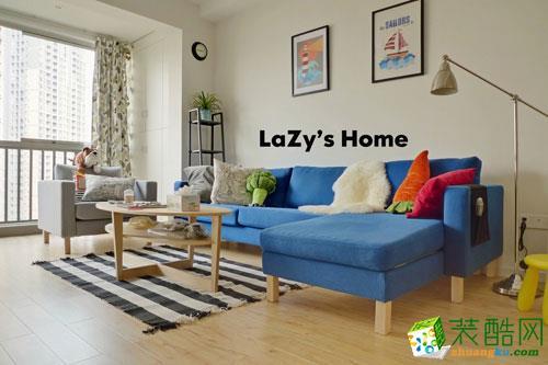 现代简约风格70平米三室两厅装修实景案例图|盛扬装饰
