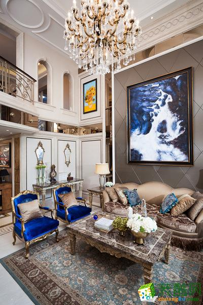 现代欧式风格130平米四室两厅装修实景案例图|远诺装饰