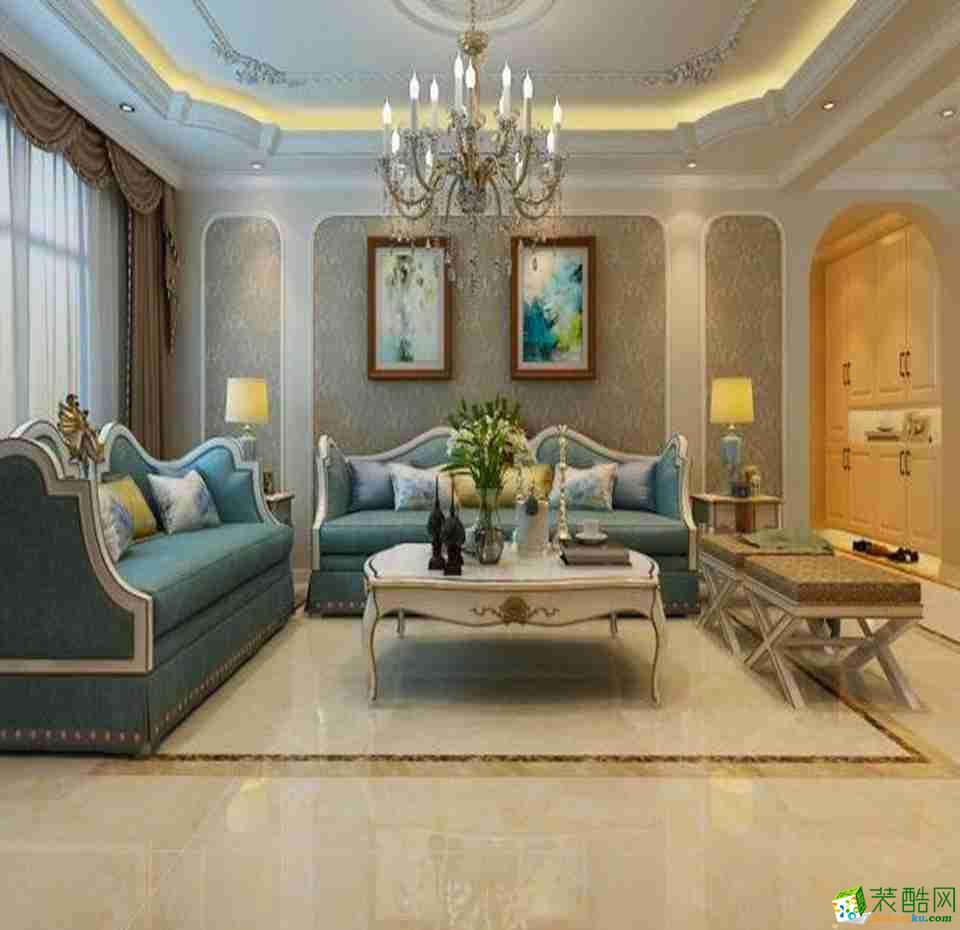 万科悦湾130平米法式风格三室两厅装修实景案例图-生活家装饰