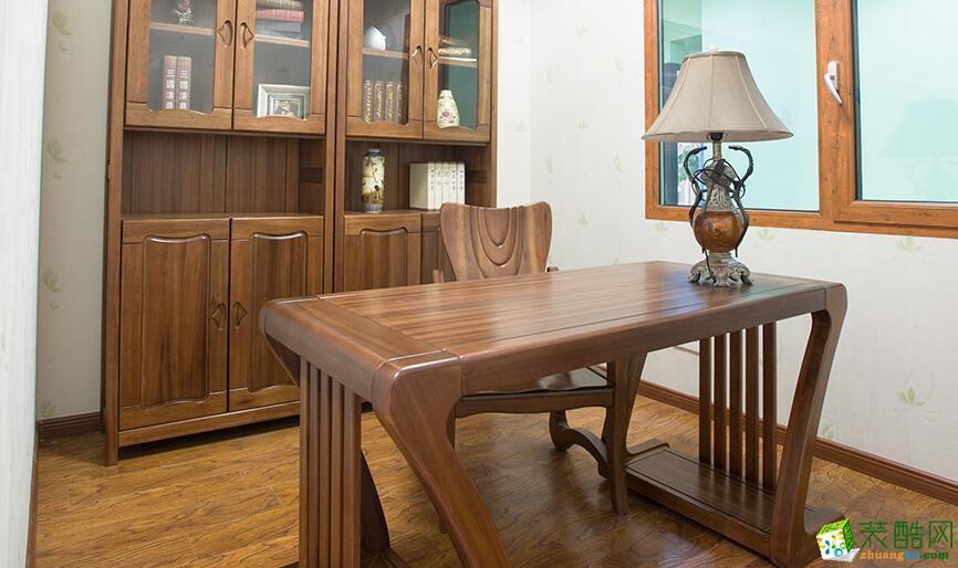 桂林中宅装饰―103方中式风格两居室装修设计效果图