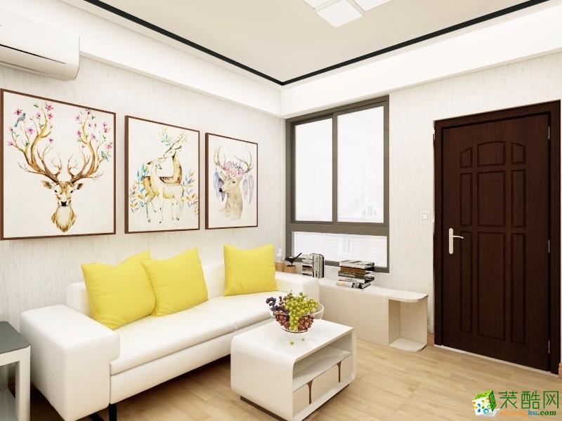 【桦艺装饰】113平米三室两厅现代效果图