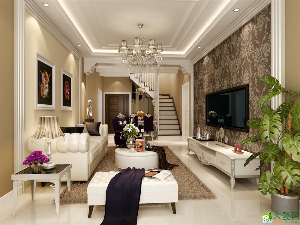 现代简约风格106平米跃层住宅装修实景案例---谛莲装饰