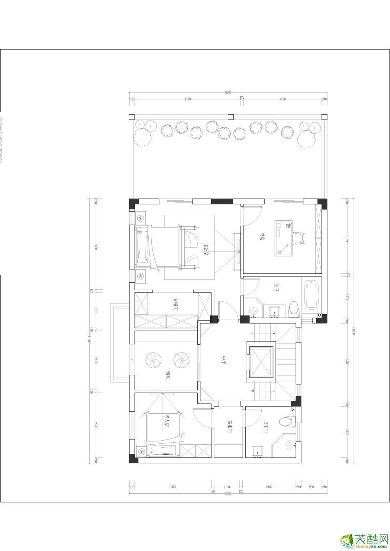 复地山与城450平米别墅住宅中式风格装修实景案例赏析---华浔品味装饰